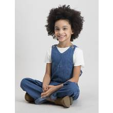Blue Denim Dungaree & T-Shirt