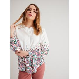 Cream Floral Border Print Blouse