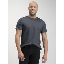 Black Patterned Short-Sleeved T-Shirt