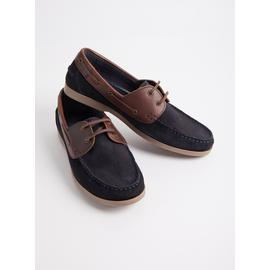 Sole Comfort Black & Brown Leather Boat Shoes