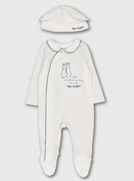 Peter Rabbit Cream Sleepsuit