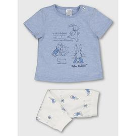 Peter Rabbit Blue Top & Bottoms Set