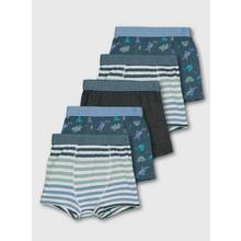Blue Origami Dinosaur Print Trunks 5 Pack