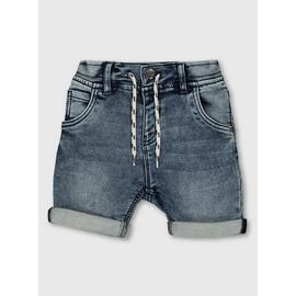 Blue Midwash Denim Shorts