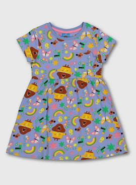 Hey Duggee Character Print Lilac Jersey Dress