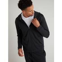 Active Black Recycled Zip Through Hoodie
