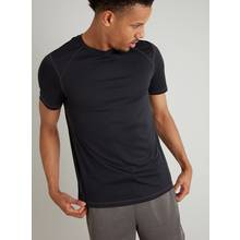 Active Black Recycled Crew Neck T-Shirt