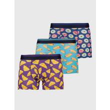 Multicoloured Food Print Trunks 3 Pack