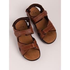 Sole Comfort Brown Leather Trekker Sandals
