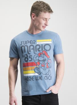 Super Mario Brothers Blue T-Shirt
