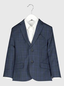 Blue Check Formal Jacket