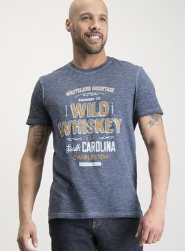 Blue/Grey Whisky Graphic T-Shirt