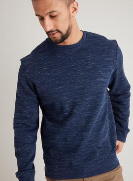Navy Marl Crew Neck Long Sleeve Sweatshirt