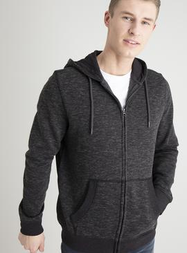 Charcoal Grey Grindle Zip-Through Hoodie