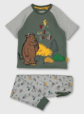 The Gruffalo Green & Grey Marl 'Don't Call Me Good' Pyjamas