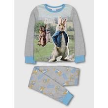 Peter Rabbit Grey Furry Appliqué Graphic Pyjamas