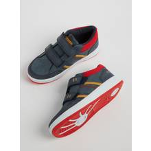 Navy Twin Strap Casual Trainers