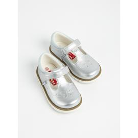 TOEZONE First Walkers Silver Metallic Bumper Shoes