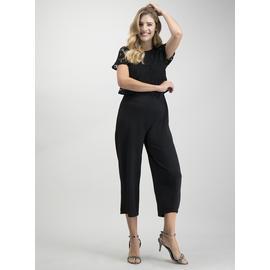 Black Double Layer Lace Jumpsuit
