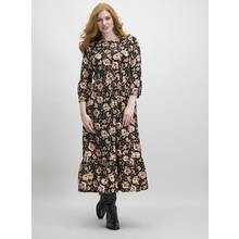 Black Floral Folk Dress