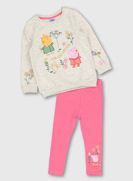 Peppa Pig Multicoloured Sweatshirt & Leggings Set