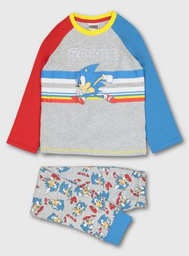 Sonic The Hedgehog Grey Pyjamas
