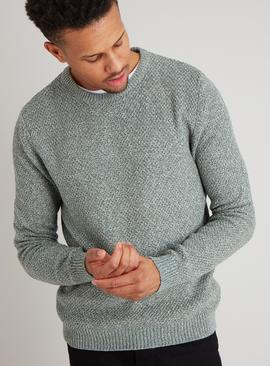 Sage Green Twist Knit Jumper