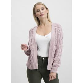 Online Exclusive Dusky Pink Cable Detail Cardigan