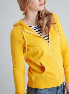 Yellow Zip Through Hoodie