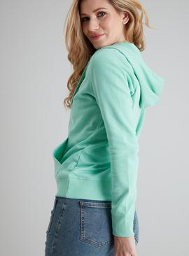 Mint Green Zip Through Hoodie