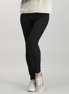 Black Faux Suede Trousers