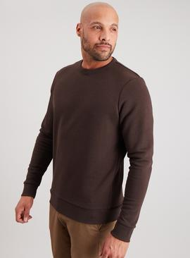 Brown Crew Neck Sweatshirt