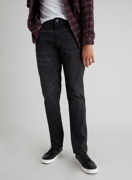 Charcoal Grey Slim Fit Denim Jeans With Stretch