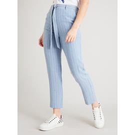 Pale Blue Pinstripe Trousers