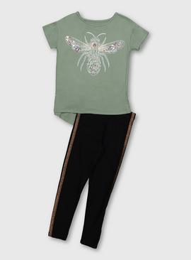 Green Bee Top & Leggings