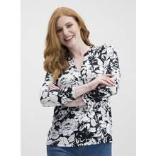 Monochrome Floral Print Shirt