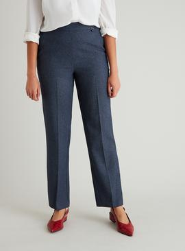 Blue Micro Check Classic Fit Trousers