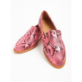 Online Exclusive Sole Comfort Hot Pink Snakeskin Loafers