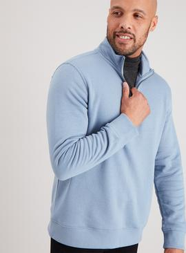Blue Half Zip Sweatshirt