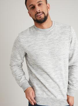 Grey Crew Neck Marl Long Sleeve Sweatshirt