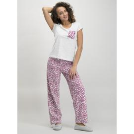 Grey Animal Print Pyjamas