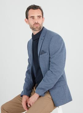 Blue Comfort Knit Tailored Fit Jacket