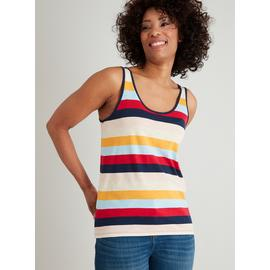 Multicoloured Stripe Scoop Neck Slouch Vest