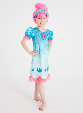 Trolls Poppy Blue Costume Set