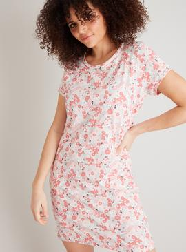 Pink Floral Print Nightdress
