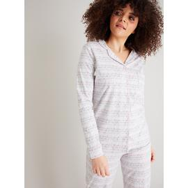 Grey 'Weekend' Print Traditional Pyjamas