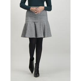 Grey Herringbone Flippy Skirt