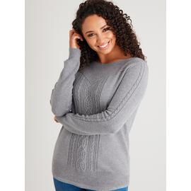 Grey Soft Touch Cable Swing Jumper