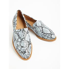 Sole Comfort Pale Blue Snakeskin Loafers