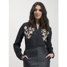 Black Floral Detail Shirt